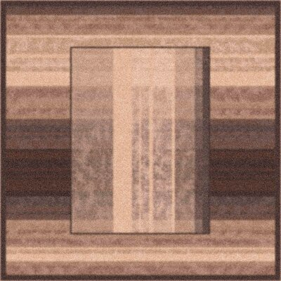 Modern Times Aspire Dark Brown Area Rug Rug Size: Square 77
