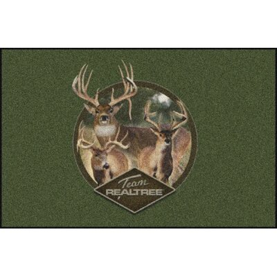 Realtree Green Team Realtree Bucks IX Area Rug Rug Size: Rectangle 310 x 54