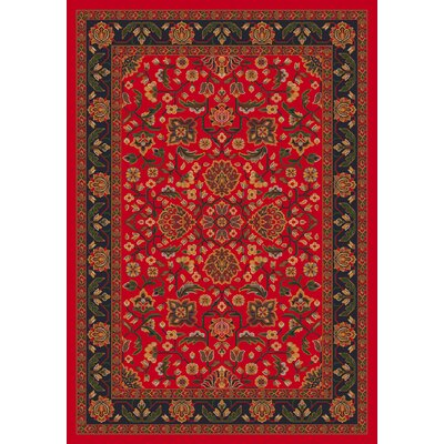 Pastiche Abadan Currant Red Rug Rug Size: Rectangle 78 x 109