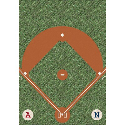 My Team Sport Dreamfield Novelty Area Rug Rug Size: Rectangle 7'8