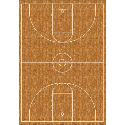 My Team Sport Hoopster Novelty Area Rug Rug Size: Rectangle 109 x 132