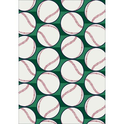 My Team Sport Swing Batter Novelty Area Rug Rug Size: 109 x 132