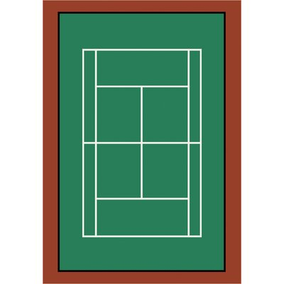 My Team Sport Tennis Anyone Novelty Area Rug Rug Size: 78 x 109