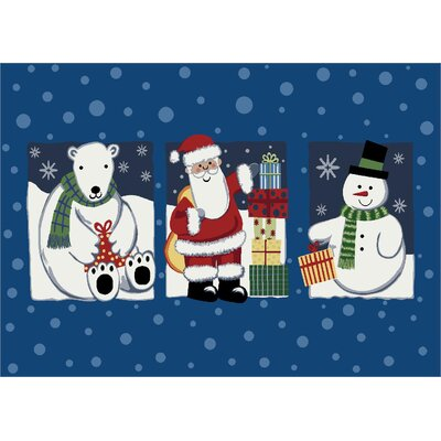 Winter Seasonal Tis the Season Christmas Doormat Mat Size: Rectangle 28 x 310