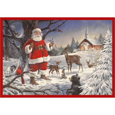 RJ McDonald Christmas Party Area Rug Rug Size: Rectangle 54 x 78