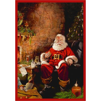RJ McDonald Christmas Party Area Rug Rug Size: 54 x 78