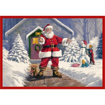 RJ McDonald Welcome Santa Area Rug Rug Size: 310 x 54