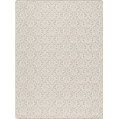 Imagine Satin Beige Area Rug Rug Size: 78 x 109