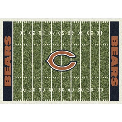NFL Homefield Chicago Bears Football Indoor/Outdoor Area Rug Size: 78 x 109