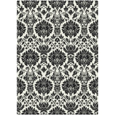 Manor Uptown Hand-Tufted Black/White Area Rug Rug Size: 78 x 109