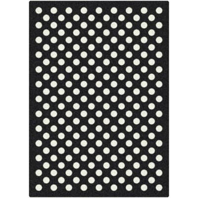 Eclipse Nightfall Black/White Area Rug Rug Size: 78 x 109