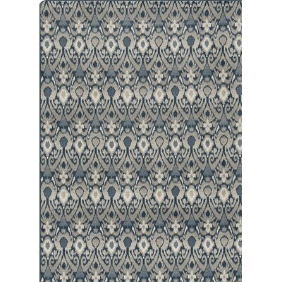 Imagine Blue/Gray Area Rug Rug Size: 78 x 109