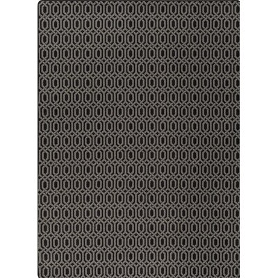 Imagine Black/Gray Area Rug Rug Size: 54 x 78