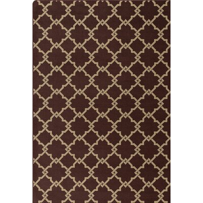Imagine Brown/Beige Area Rug Rug Size: 78 x 109