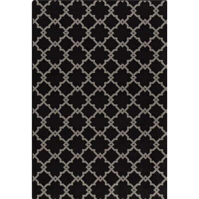 Imagine Black/Gray Area Rug Rug Size: Rectangle 3'10