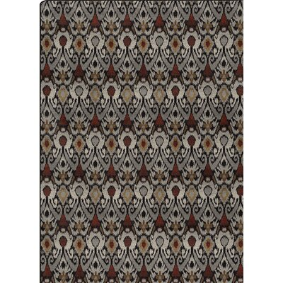 Imagine Red/Gray Area Rug Rug Size: Rectangle 54 x 78