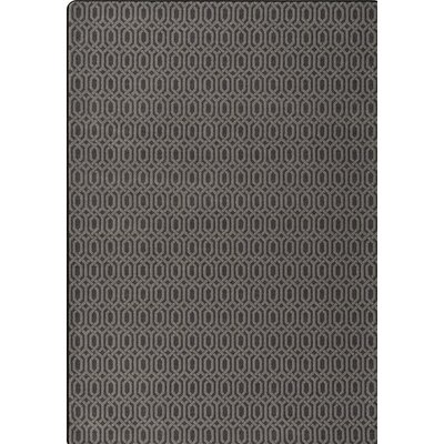 Imagine Black/Gray Area Rug Rug Size: 78 x 109