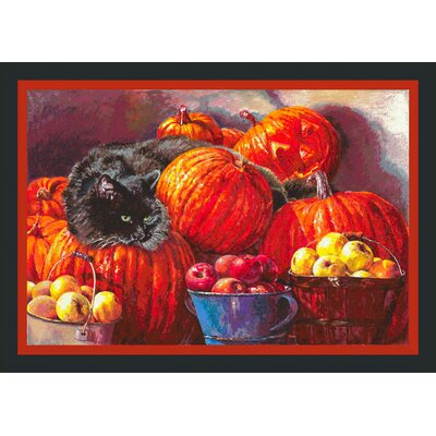 Fall Seasonal Pumpkin Patch Doormat Mat Size: Rectangle 28 x 310