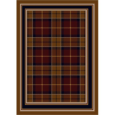Signature Magee Tartan Dark Amber Area Rug Rug Size: Rectangle 109 x 132
