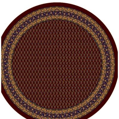 Serabend Hand Woven Garnet Rug Rug Size: Round 77
