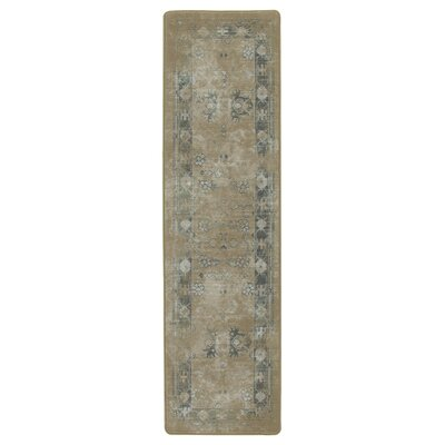 Tate Brushed Gold Area Rug Rug Size: Runner 21 x 78