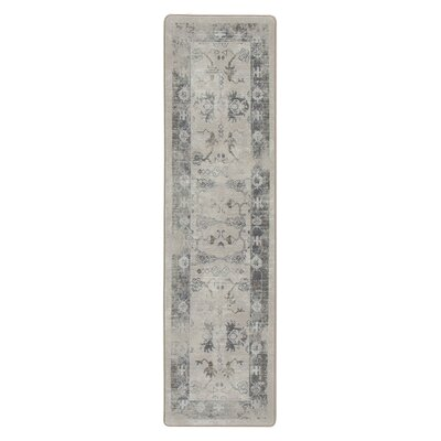 Tate Ancient Gray/Tan Area Rug Rug Size: Runner 21 x 78