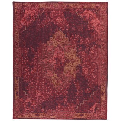 Tate Sultan Red Area Rug Rug Size: Rectangle 109 x 132