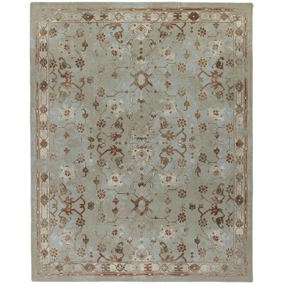 Tate Subtle Aqua Area Rug Rug Size: Rectangle 109 x 132
