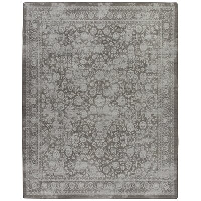 Abba Burnished Silver Area Rug Rug Size: 109 x 132