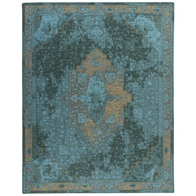 Tate Peacock Green Area Rug Rug Size: Rectangle 109 x 132