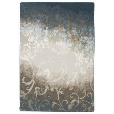 Corell Park Waterline Blue Area Rug Rug Size: 109 x 132