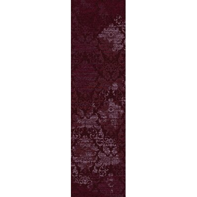 Tate Claret Purple Area Rug Rug Size: Runner 21 x 78