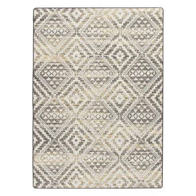 Tate Soft Gold Area Rug Rug Size: Rectangle 109 x 132