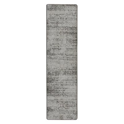 Abba Burnished Silver Area Rug Rug Size: Runner 21 x  78
