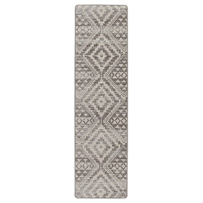 Tate Silversmith Gray Area Rug Rug Size: Runner 21 x 78