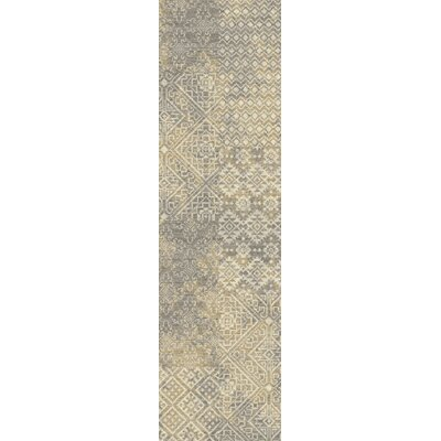 Tate Parchment Area Rug Rug Size: Runner 21 x  78