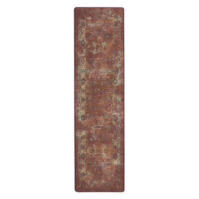 Tate Adobe Red Area Rug Rug Size: Runner 21 x 78