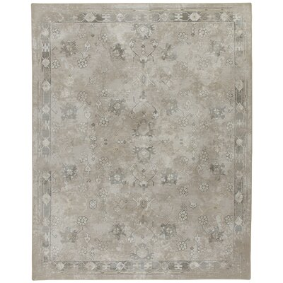 Tate Ancient Gray/Tan Area Rug Rug Size: Rectangle 109 x 132