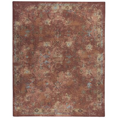 Tate Adobe Red Area Rug Rug Size: 109 x 132