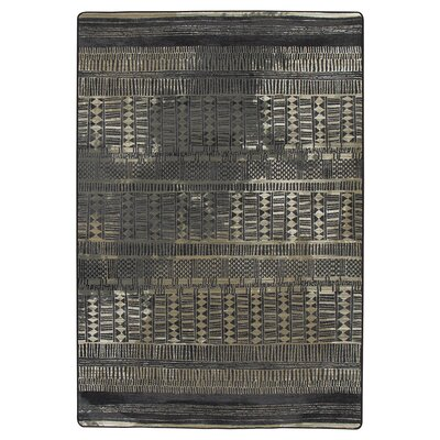 Tate Mudcloth Black Area Rug Rug Size: Rectangle 54 x 78
