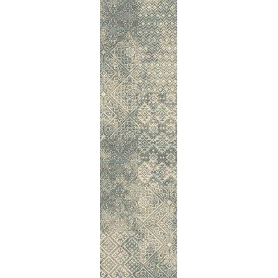 Tate Beige/Green Area Rug Rug Size: Runner 21 x 78