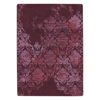 Tate Claret Purple Area Rug Rug Size: Rectangle 109 x 132