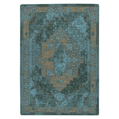 Tate Peacock Green Area Rug Rug Size: Rectangle 78 x 109