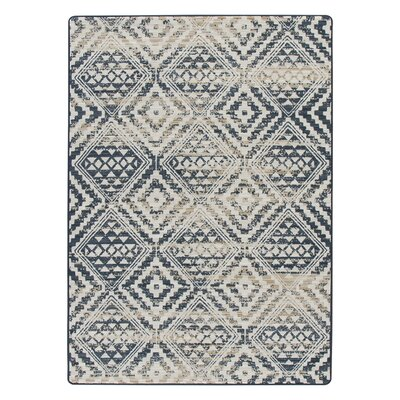 Tate Artisan Blue/Beige Area Rug Rug Size: Rectangle 109 x 132