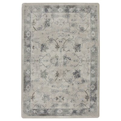 Tate Ancient Gray/Tan Area Rug Rug Size: Rectangle 78 x 109