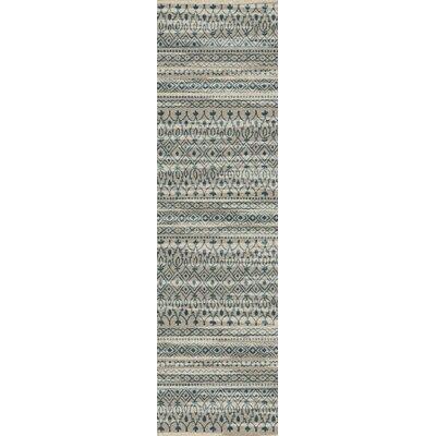 Tate Blue/Beige Area Rug Rug Size: Runner 21 x 78