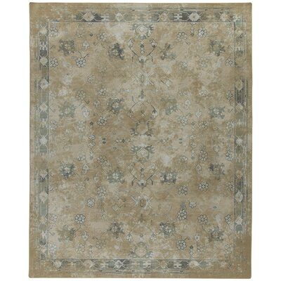 Tate Brushed Gold Area Rug Rug Size: Rectangle 109 x 132
