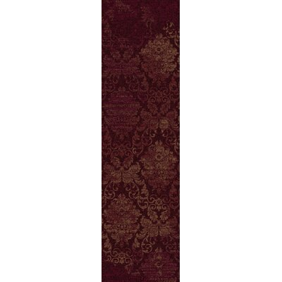 Tate Spiced Red Area Rug Rug Size: Runner 21 x  78