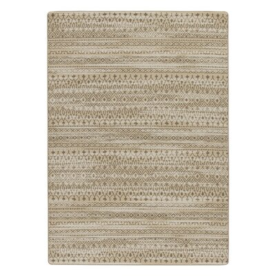 Tate Antique Tan Area Rug Rug Size: 109 x 132