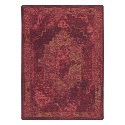 Tate Sultan Red Area Rug Rug Size: Rectangle 78 x 109